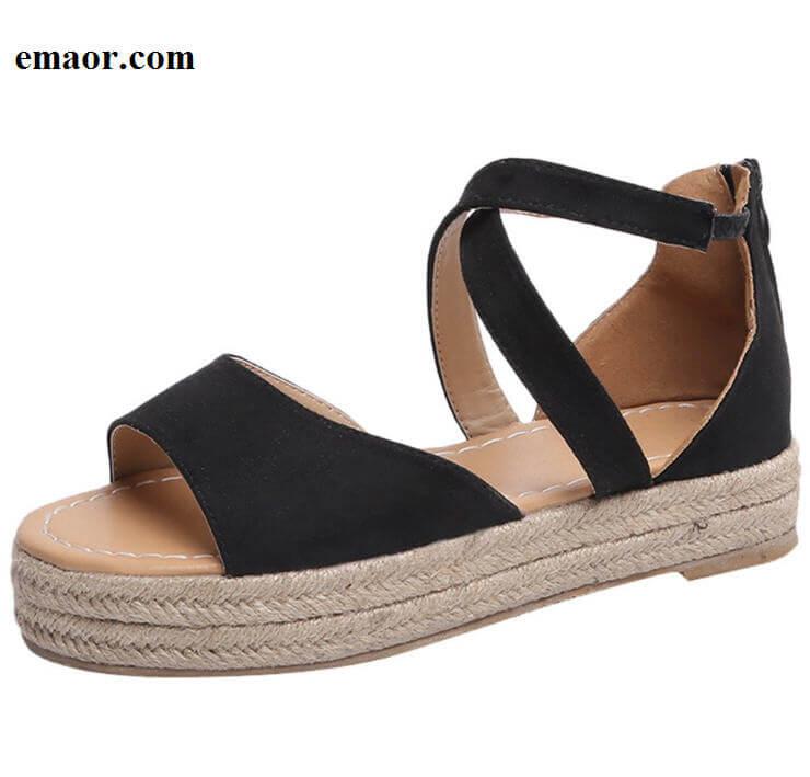 a699b371f Women Sandals Gladiator Peep Toe Buckle Fashion Design Roman Sandals Women  Flat Shoes Summer Beach Ladies