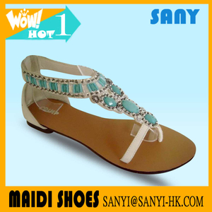 Newly Designed Stylish Sandals with Pretty Gemstone for Woman