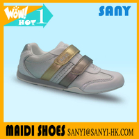 Fashionable PU Nice Fancy Kid casual Shoe with Mesh Lining and TPR outsole Made in China