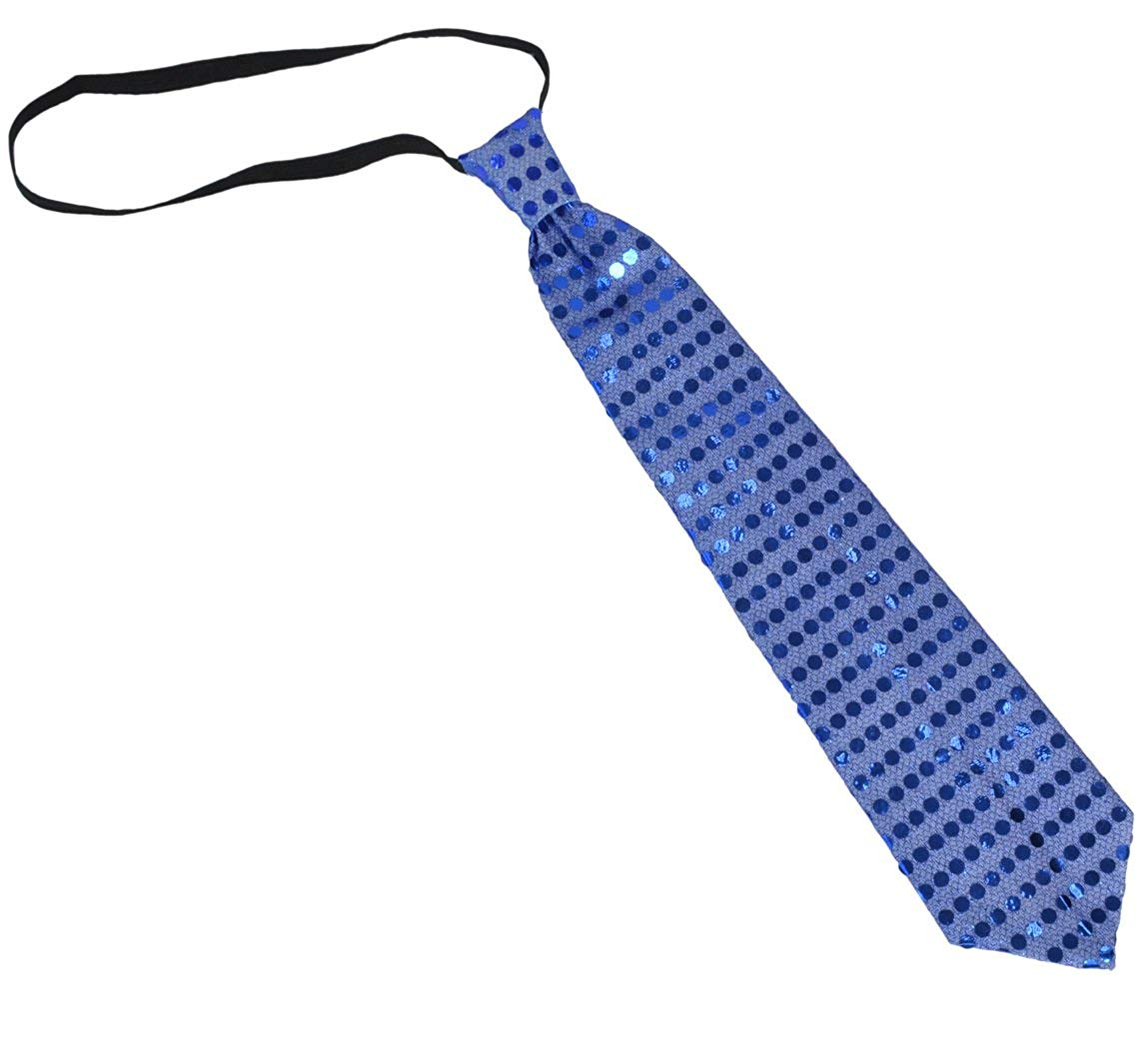 Light Up Neckties LED Funny Sequin Neck Ties Novelty Blinking Party Toy