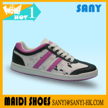 New Brand Exported Elegant Skate/Skateboard Shoes Rubble outsole and PU upper for Woman