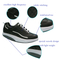 Best Selling Men Stylish Flexible Lightweight Black PU Fitness Running/ Walking Shoe with Elastic Rubber Outsole
