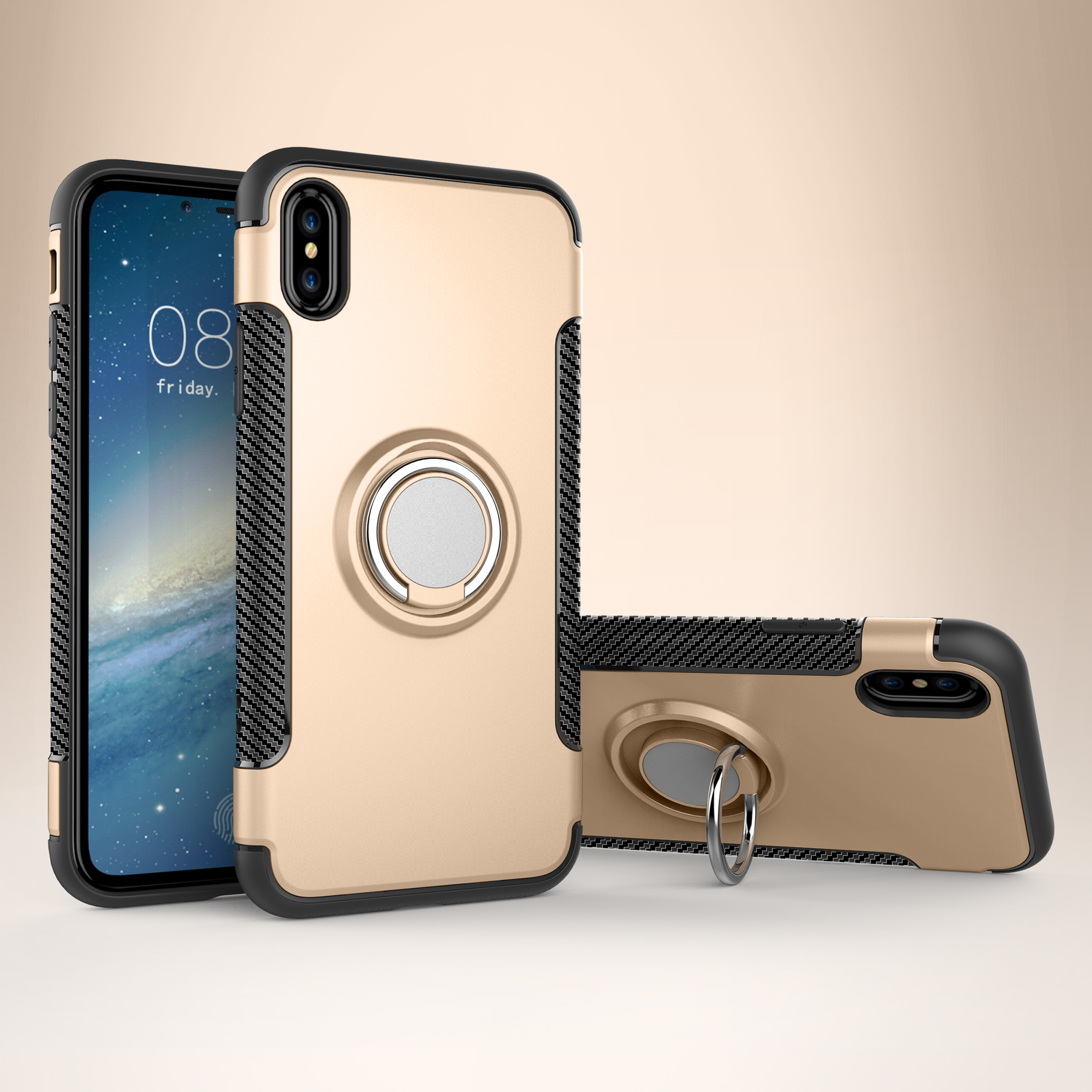 Car holder magnetic iPhoneX mobile phone case Apple Samsung ring Huawei P20 lite mobile phone case EMAOR