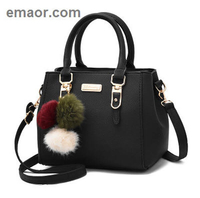 Brand Women Hairball Ornaments Totes Solid Sequined Handbag Hotsale Party Purse Ladies Messenger Crossbody Shoulder Bags