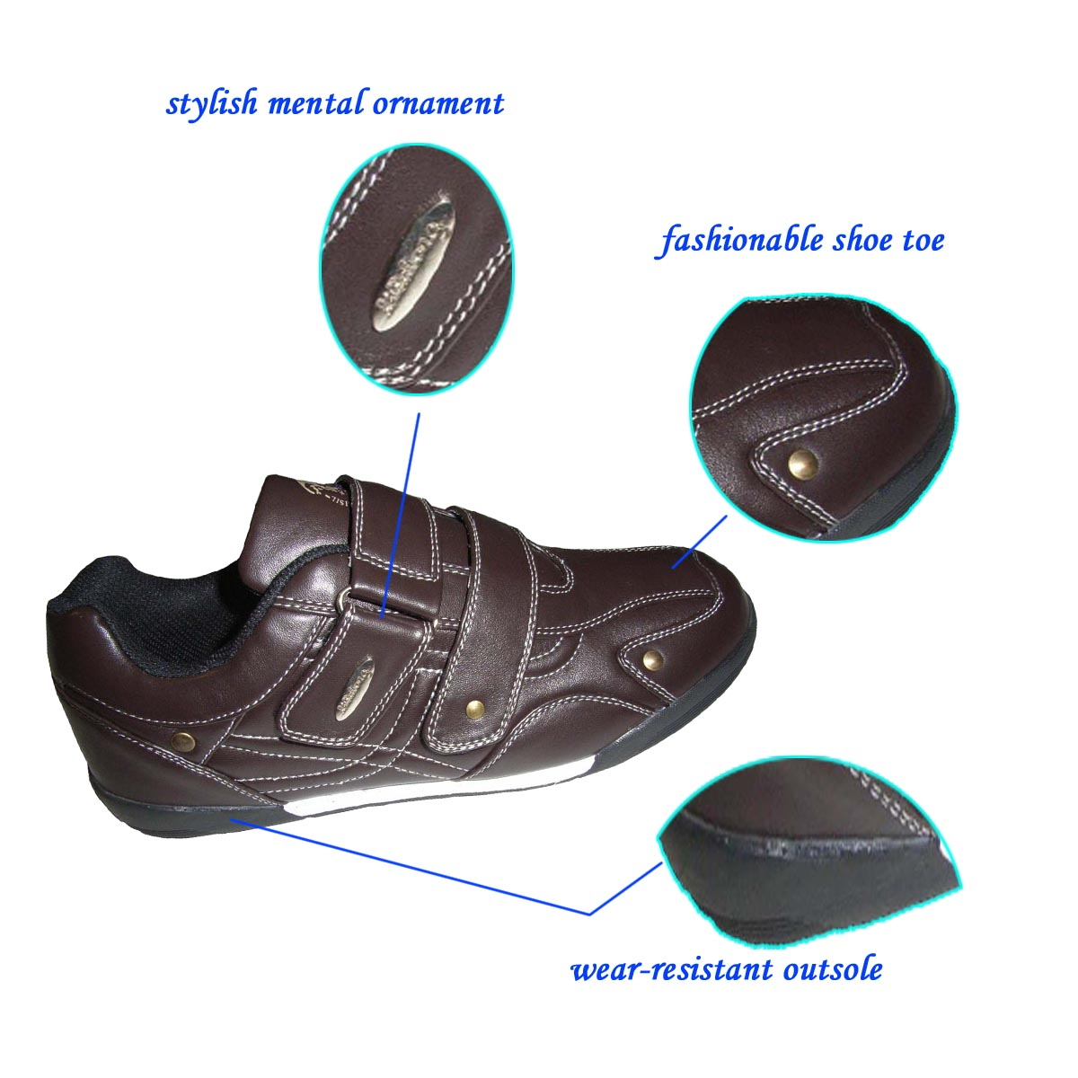 Designer Top Quality Genuine Leather Casual Shoes of China
