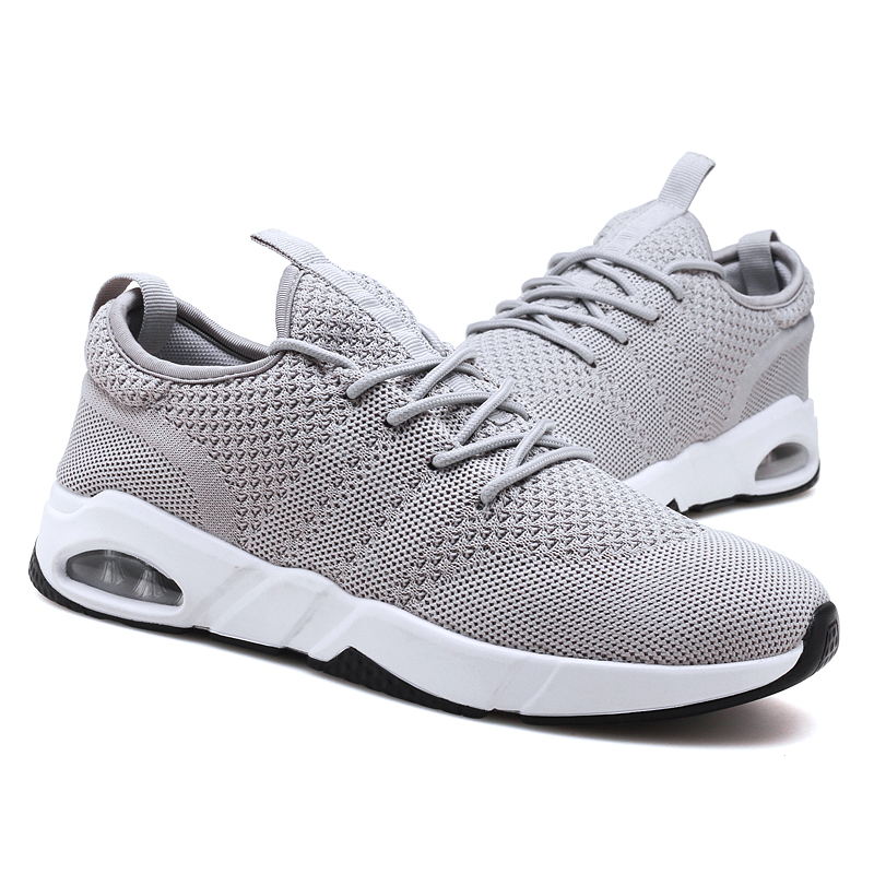 Breathable athletic knitting shoes running sneaker max air for men on line hot sell