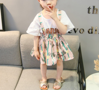 2018 new cotton skirts for grils fashion cute skirt set baby summer girls Small broken flower skirt sets