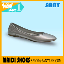 China High Quality New Design Popular Dancewear Silver Flat Ballet Dance Shoe Tap Character Dance Shoes