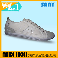 Chinese Hottest Cheap Men's White Canvas Casual Shoes with Fold-resistant Rubber Outsole popularity casual shoes