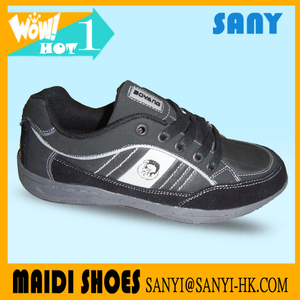 Wholesale Cheap Mens' Black Wild Casual Shoes with Durable Outsole with Big Discount