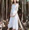 2018 the new Retro long dress elegant printing dresses Pure girl shoulder-straps skirt