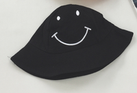 2018 new Kids Girls cute Fisherman Hat Sun Protective Smile Face Beach Bucket Hat Boy Breathable Helmet Caps Emaor