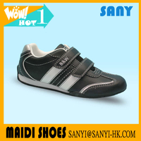 Fashionable Breathable Hasp Kid Black Sport Casual Shoes