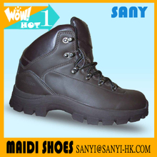 Latest design PU Hiking Shoe with Anti-skid Rubber Outsole for Men