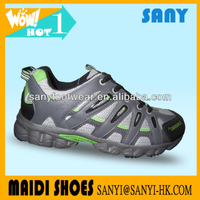 Fashion Exported Chinese Breathable Men's Grey Running Shoes of Wearproof MD Outsole