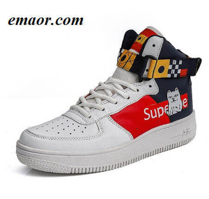 Men's Vulcanized Shoes New Fashion Leisure Cartoon Design Pattern Anti-skid Comfort Hip-hop Outdoor Sneakers