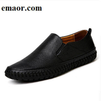 Men Genuine Leather Shoes Fashion Brand Slip On Black Shoes Real Leather Loafers Mens Moccasins Shoes Italian Designer Loafers Shoes