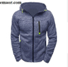 Mens Hoodies Sports Casual Wear Zipper Fashion Tide Jacquard Fleece Jacket Sweatshirts Autumn Winter Coat