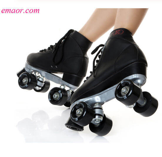 Cheap Roller Skate For Girl's Classic Double Row Skating Shoes Pulley Shoes 4 Wheels Shoes