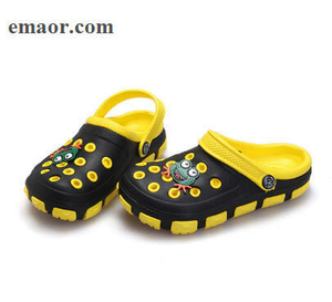 Garden Shoes Summer Little Boys Girls Mules And Clogs Hollow Children Slipper Cartoon Frog PU Shower Kids Beach Sandals