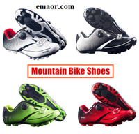 Men's Cycling Shoes Road Bike Shoes Breathable Mountain Bike Bicycle MTB Shoes Reflective Cycle Sneaker Triathlon Racing Shoes