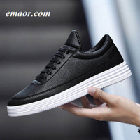 Mens Casual Shoes Soft Leather Breathable Comfortable Flat Fashion Brand Men's White Sneakers