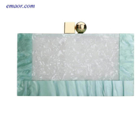 White Acrylic Purse Box Coach Bags Clutch Luxury Handbags Birkin Bag Hand Bags