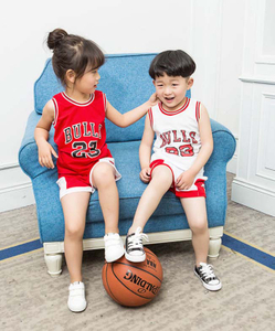 Kids Basketball Vest Baby Clothes Sets Boys And Girls Unisex Sports Jerseys tracksuit summer baby shorts set