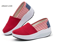 Usa Flag Seasons Classic Canvas Flag Women's Casual Shoes Superga Shoes Doug Ducey Shoes
