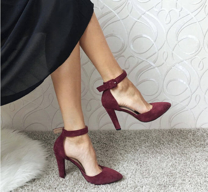 Party Wedding Pointed Toe Super Square Platform High Heels
