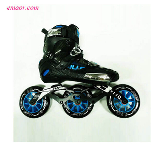 Speed Skates Semi-solft High Ankle Roller Shoes Cheap Skate Shoes War Wolf Speed Skates