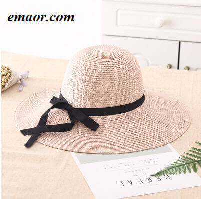 eaaafe31fe9944 Womens Straw Hat Summer Big Wide Brim Beach Shade Foldable Sun Block UV  Protection Feminino Panama