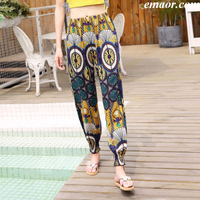 Baggy Summer Pants Loose Trousers High Waisted Dress Pants Close The Foot Loose Fit Trousers Womens Ankle Pants