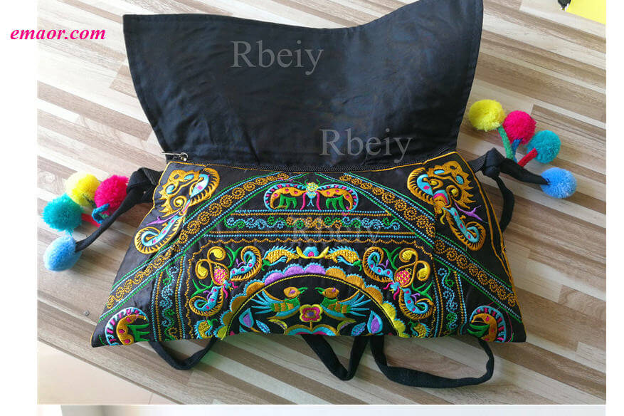 Ethnic Embroidery Women's Handbag Cheap Canvas Shoulder Messenger Bags