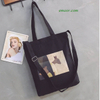 New Fashion Ladies Handbags Letter Print Cloth Canvas Tote Bags Cotton Shoulder Shopper Bags