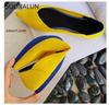 Rothys Flat SUOJIALUN Slip On Flat Loafers Pointed Toe Shallow Ballet Flats Shoes Casual Flat Shoes Ballerina Flats Zapa Rothys Flat