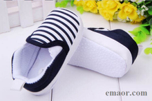 Baby Boys Shoes New Infant Slip-On First Walkers 0-24months Toddler Striped Canvas Sneakers Casual Shoes