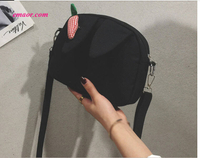 Literary Canvas Ear Radish Cartoon Printing Cute animal Shoulder Bag Cheap Top-Handle Bags