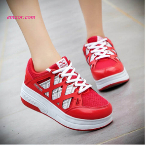 Adult Kids Shoes NEW Wheely Roller Shoes Roller Skates Kids Cheap Sneakers Boys Girls Shoes