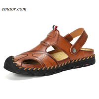 Best Gucci Sandals Leather Men's Sandals Soft Breathable Slippers Hot Birkenstock Sandals
