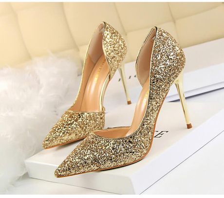 Rose Gold Wedding Shoes Low Heel High Heel Fashion Crocs Dress Shoes for Womens Party Wear Shoes Black And White Silver High Heels for Girs