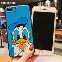 Cell Phone Shell Donald Duck Cartoon Phone Case Skin Shell For IPhone X XR XS MAX Cute Rubber Soft Cell Housing Cover For IPhone