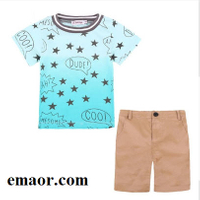 Kids Clothes Active Boys Sets Summer Fashion Short Sleeve Floral Shirts+Shorts Suits Pants 2 Pieces Breathable Children Clothing