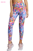 Hot Colorful Tie Dye Print Skintight Best Yoga Pants