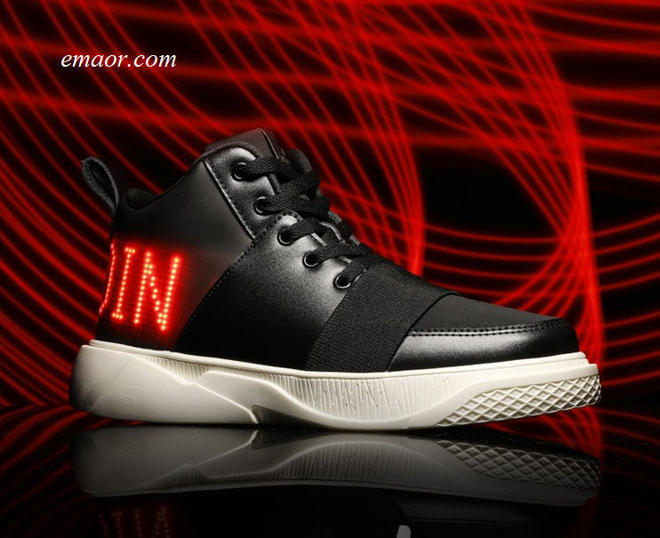 LED Custom DIY Magic Aurora Tide Korean Version Tide Luminous Light Shoes Subtitle Charging Led Display Board Shoes
