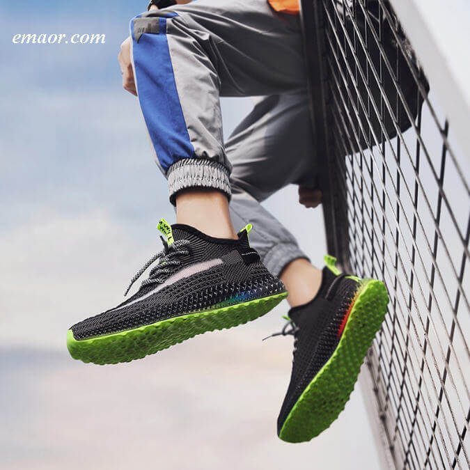 Yeezy Shoes Summer All 4D Outsole Off White Star Yeezy Shoes Air 350 Boost V2 Men Student Running Sneakers Shoes Yeezy