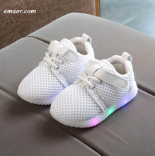 LED Kid's Baby Boy's Girl's Luminous Sneakers Bright Light Up Shoes Sports Running LED Shoes