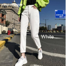Jeans for Womens Spring New 100%cotton High Waist Harem Plus Size Show Thin Casual Women Denim Pants