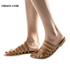 Women's Slippers Summer Fashion Beach Casual Shoes Ladies Flat Heel Strap Slippers Roman Shoes Female Outdoor Casual Hot Sale Flip Flops