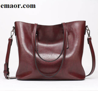 Women Leather Handbags Brand OL Lady Large Tote Bag Main Brown Black Red Female Elegant Pu Femininas Shoulder Bags